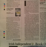 <h5>Fabulous review in the Saturday Independent by Myles McWeeney</h5>