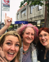 <h5>Angela Clarke, Alex Marwood and me on tour!</h5>