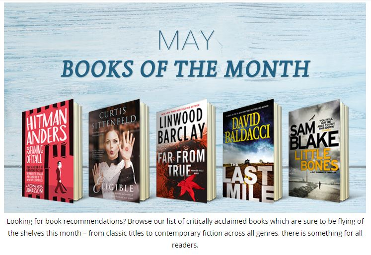 Easons Books of the Month for May 2016