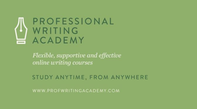 Sam Blake at The Professional Writing Academy